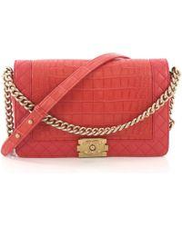 14f73fc35581 Chanel Pre-owned Black Alligator Handbags in Black - Lyst