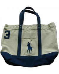 Polo Ralph Lauren - Beige Cotton Bag - Lyst