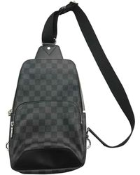 Louis Vuitton Sac Avenue sling en Toile Anthracite - Multicolore