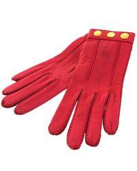 Hermès Leder Handschuhe - Rot