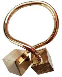 Louis Vuitton - Pre-owned Gold Steel Bracelet - Lyst