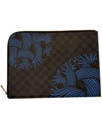 Louis Vuitton Bolsos en lona antracita Pochette Jour GM - Multicolor