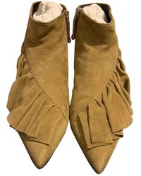 JW Anderson - Suede Ankle Boots - Lyst