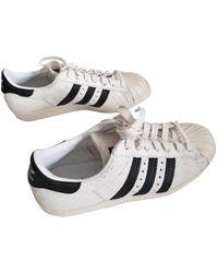 adidas Superstar Leder Sneakers - Weiß