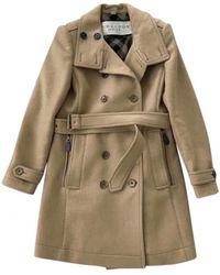 Burberry Wool Coat - Natural