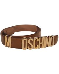 Moschino Leather Belt - Brown