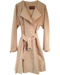 John Galliano - Pre-owned Beige Cotton Trench Coats - Lyst