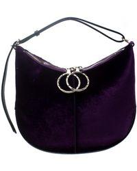 Nina Ricci \n Purple Suede Handbag