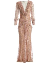Alessandra Rich - Pink Polyester Dress - Lyst