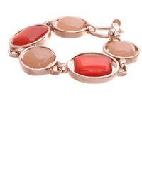 Oscar de la Renta Red Metal Bracelet