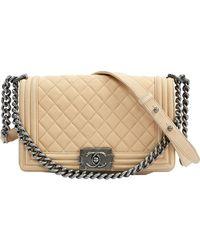Chanel Boy Other Leather Handbag - Natural