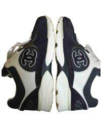 Chanel Leinen Sneakers - Grau