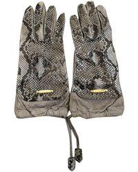 Burberry Beige Python Gloves - Natural