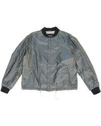 Lanvin - Grey Silk Jacket - Lyst