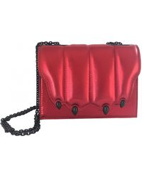 Marco De Vincenzo Leather Crossbody Bag - Red