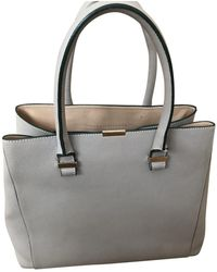Victoria Beckham Gray Leather Handbag