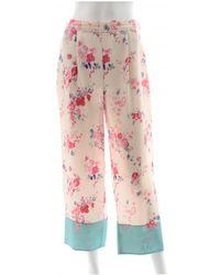 Vilshenko Silk Trousers - Pink