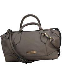 Burberry Leder Handtaschen - Natur