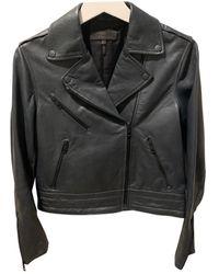 Rag & Bone Leather Biker Jacket - Grey