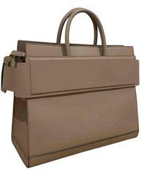 Givenchy Horizon Beige Leather Handbag - Natural