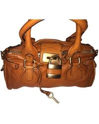 Chloé Paddington Leather Handbag - Orange