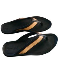 Louis Vuitton Leather Flip Flops - Natural