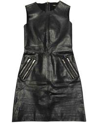 Maje Leather Mini Dress - Black