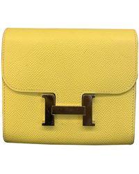 Hermès Constance Leder Portemonnaies - Gelb