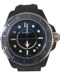 Chanel J12 Marine Keramik Uhren - Schwarz