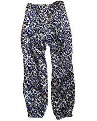 Louis Vuitton Multicolour Cloth Trousers - Blue