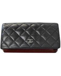 Chanel Portafoglio in pelle nero Timeless/Classique - Multicolore