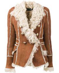 Balmain Shearling Jacket - Multicolour