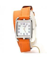 Hermès Cape Cod Weißgold Uhren - Orange