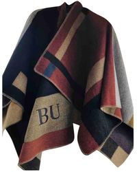 Burberry Wolle Poncho - Mehrfarbig