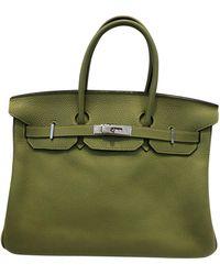 Hermès Sac à main Birkin 35 en cuir - Vert