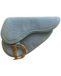 Dior Saddle Velvet Purse - Blue