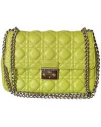 Dior - Pre-owned Miss Yellow Leather Handbags - Lyst