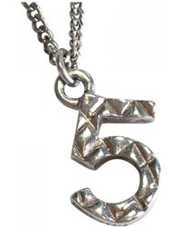 Chanel - Silver Silver Necklace - Lyst