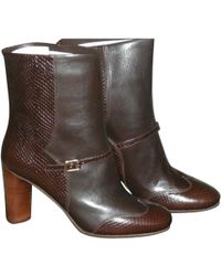 Marc By Marc Jacobs - Pre-owned Brown Leather Ankle Boots - Lyst