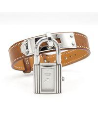 Hermès Reloj en acero plateado Kelly - Multicolor