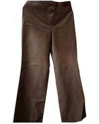 Louis Vuitton Grey Wool Trousers - Multicolour