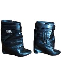 Givenchy Shark Leather Boots - Black
