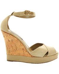 Ralph Lauren Collection - Khaki Cloth Sandals - Lyst