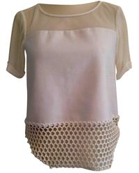 Elizabeth and James White Polyester Top