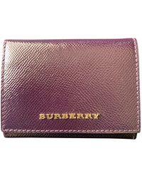 Burberry Leather Purse - Purple