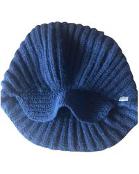 Chanel Cappelli in lana marina - Blu