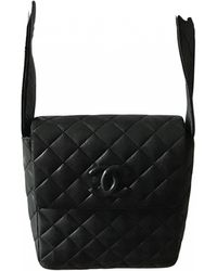 Chanel Leather Crossbody Bag - Black