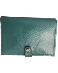 Tiffany & Co. Turquoise Leather Purses Wallet & Case - Green