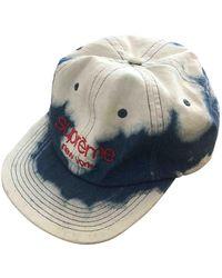 Supreme Chapeaux & Bonnets en Coton Bleu