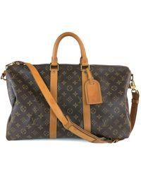 Louis Vuitton Keepall Brown Cloth